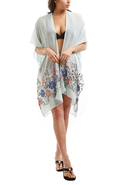 Nadya's Closet Embroidered Floral Kimono - Front cropped