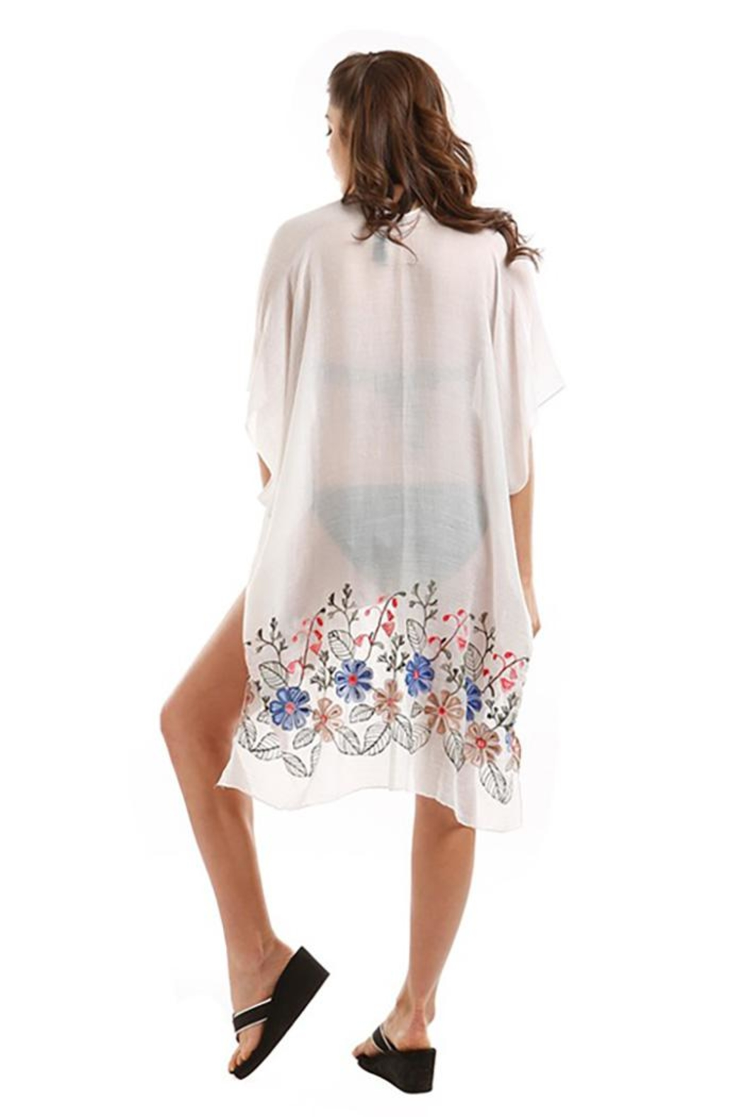 Nadya's Closet Embroidered Floral Kimono - Front Full Image