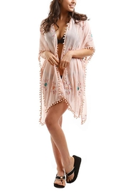 Nadya's Closet Embroidered Pompom Cover-Up - Product Mini Image