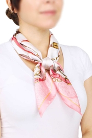 Nadya's Closet Equestrian Print Satin Scarf - Front cropped