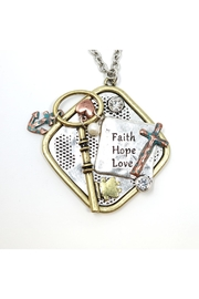 Nadya's Closet Faith-Hope-Love Necklace - Front cropped