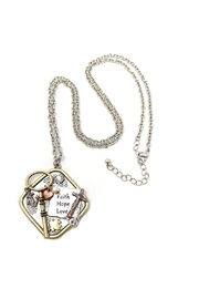 Nadya's Closet Faith-Hope-Love Necklace - Side cropped