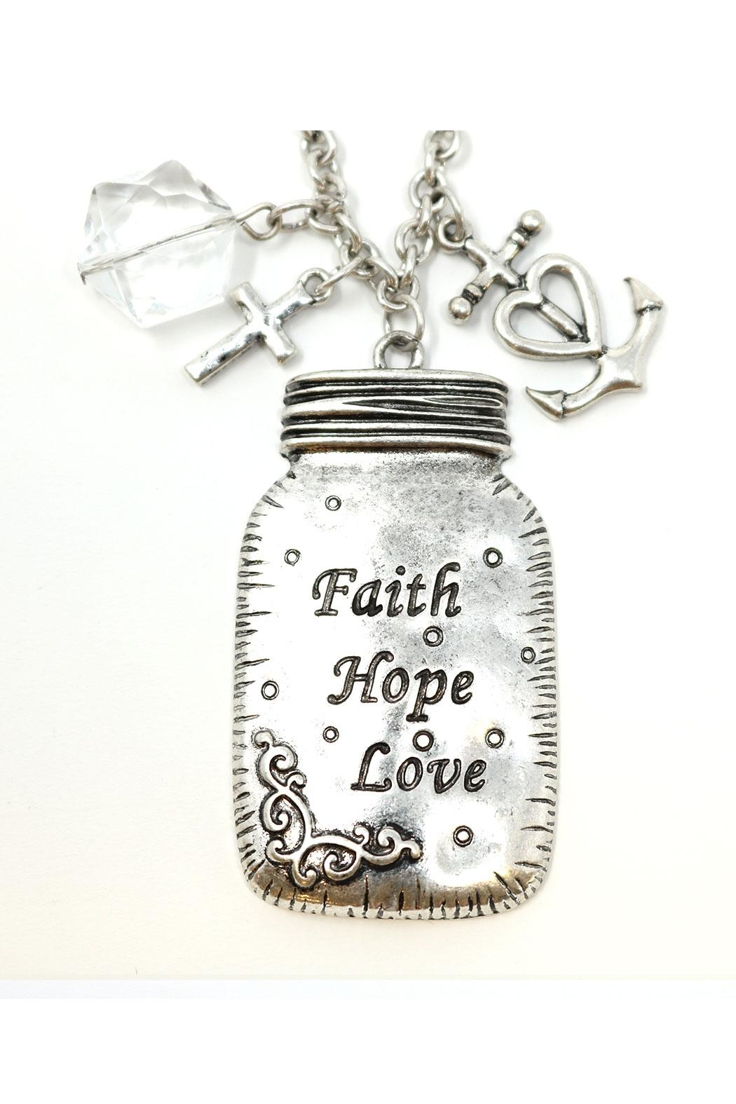 Nadya's Closet Faith-Love-Hope Necklace - Front Full Image