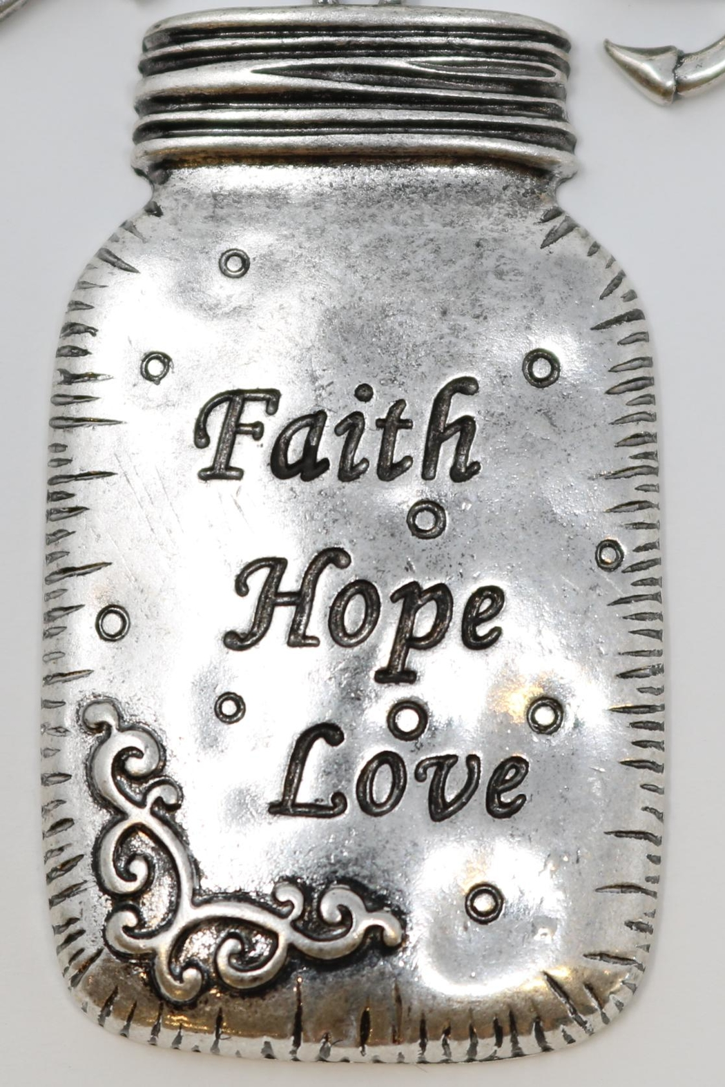 Nadya's Closet Faith-Love-Hope Necklace - Front Cropped Image