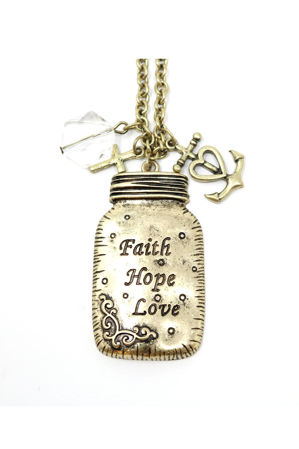 Nadya's Closet Faith-Love-Hope Necklace - Main Image