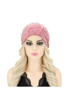 Nadya's Closet Fan Stone Velvet Soft Beanie - Alternate List Image