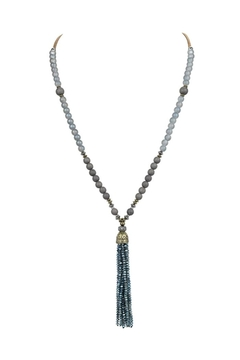 Shoptiques Product: Fashion Crystal Tassel Long Necklace