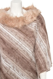 Nadya's Closet Faux Fur Line Mix Tone Poncho - Front full body