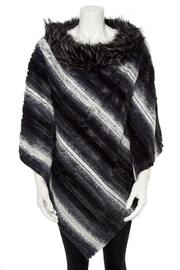 Nadya's Closet Faux Fur Line Mix Tone Poncho - Product Mini Image