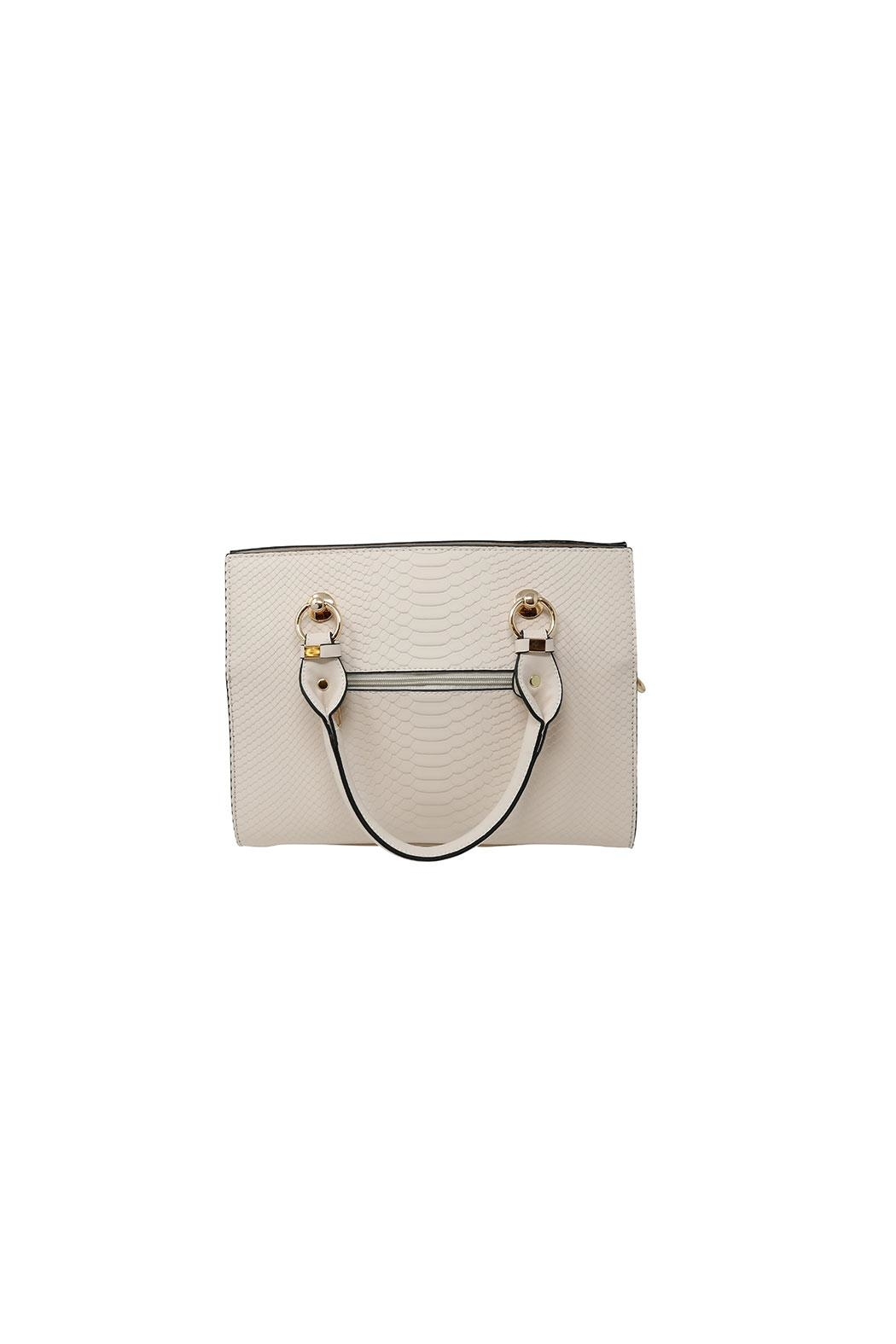 Nadya's Closet Faux Snakeskin Tote - Front Full Image