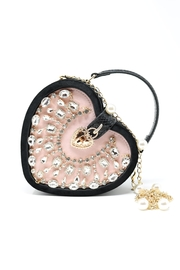 Nadya's Closet Faux Suede Heart Shape Bag - Product Mini Image