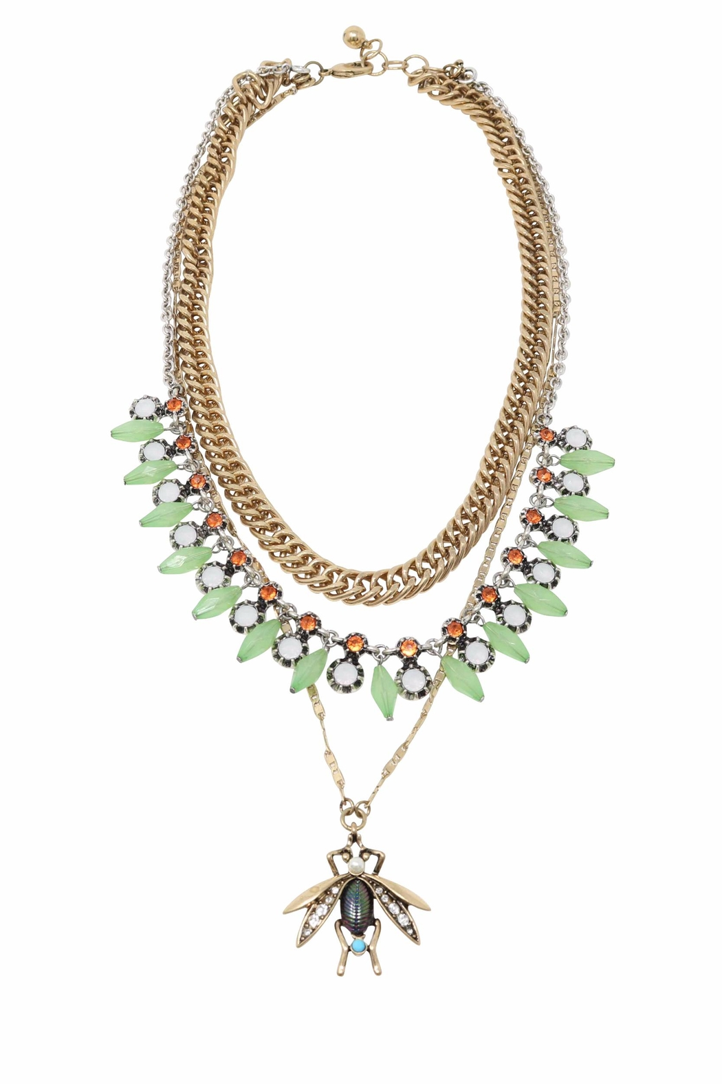 Nadya's Closet Firefly Statement Necklace - Front Cropped Image