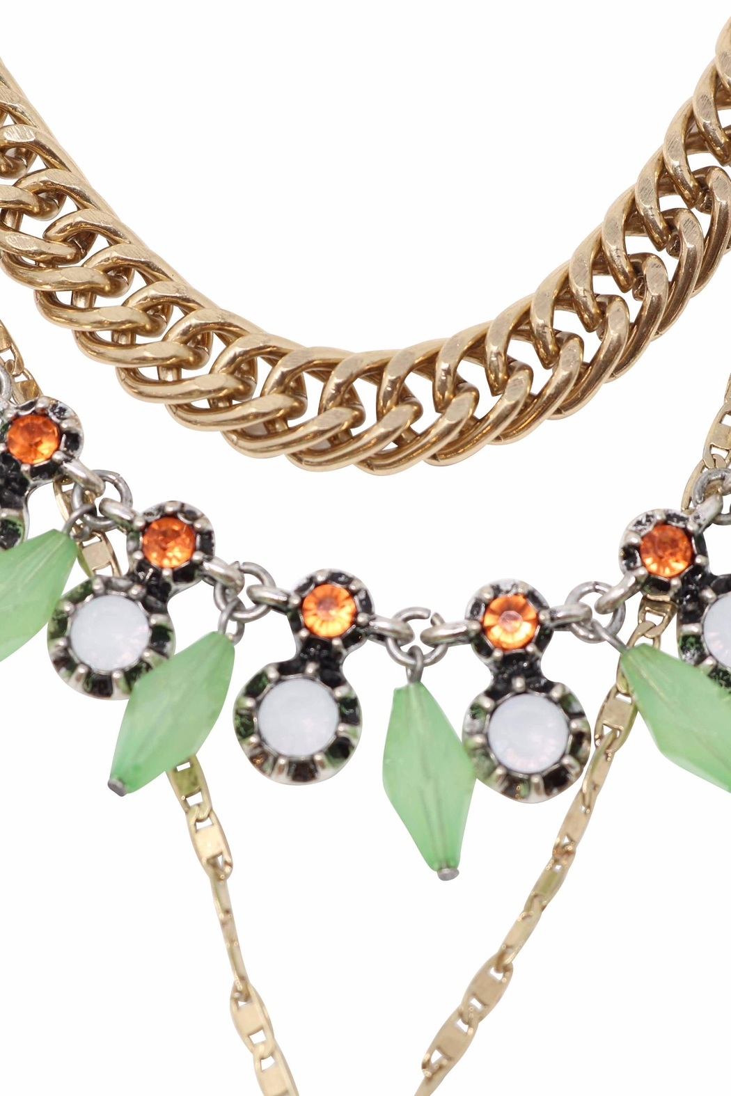 Nadya's Closet Firefly Statement Necklace - Side Cropped Image