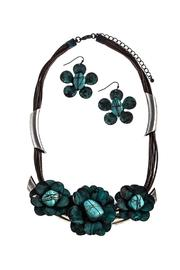 Nadya's Closet Floral Necklace And Earring Set - Product Mini Image