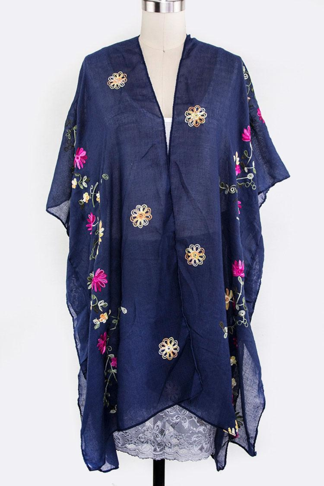 Nadya's Closet Floral Embroidered Cardigan - Main Image