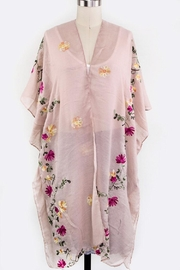 Nadya's Closet Floral Embroidered Cardigan - Front cropped