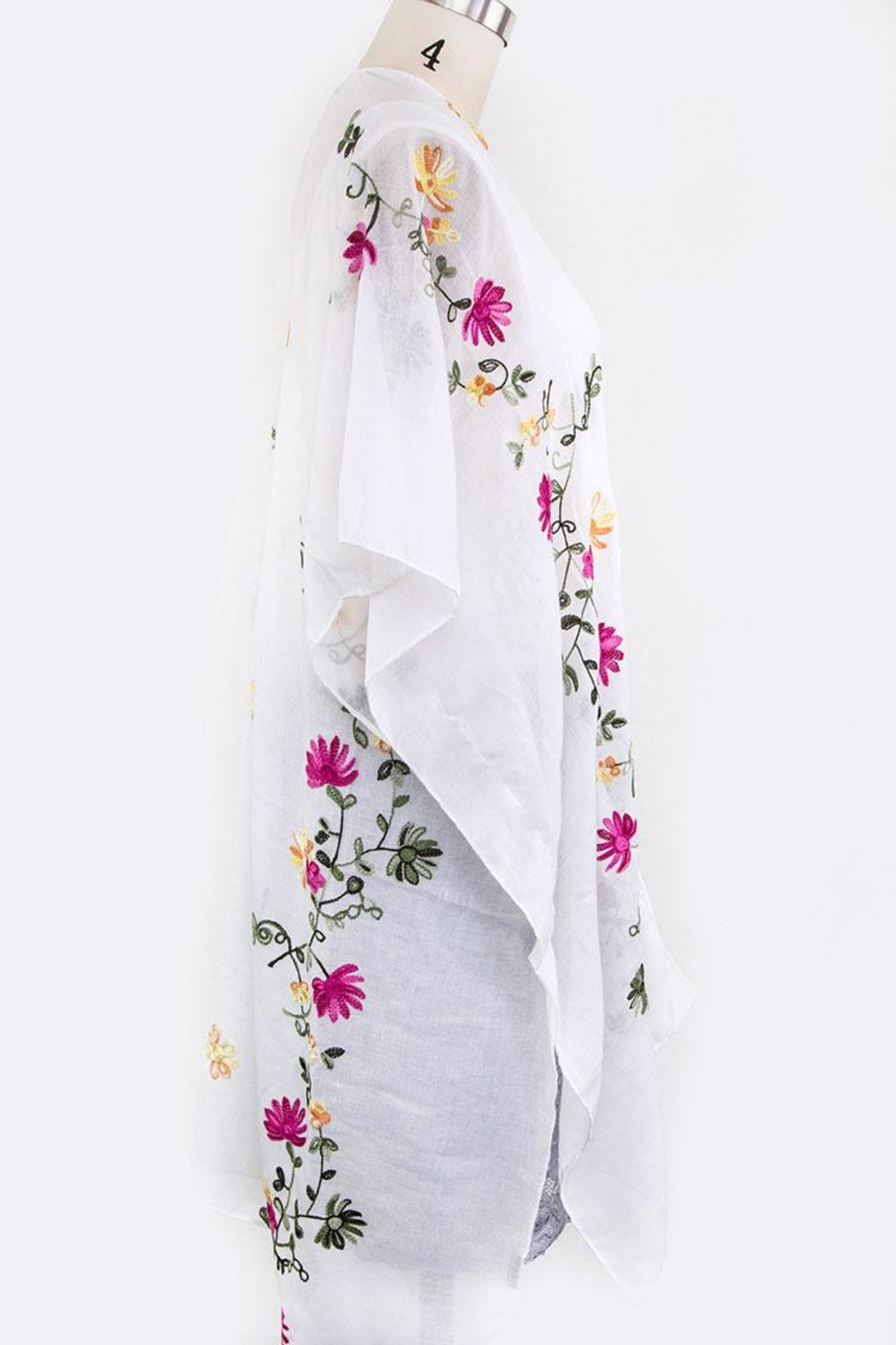 Nadya's Closet Floral Embroidered Cardigan - Back Cropped Image
