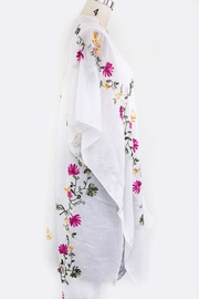 Nadya's Closet Floral Embroidered Cardigan - Back cropped