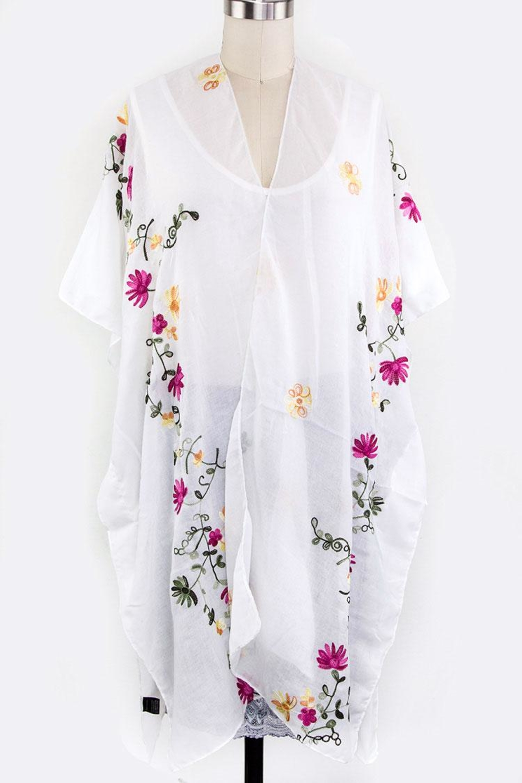 Nadya's Closet Floral Embroidered Cardigan - Front Cropped Image