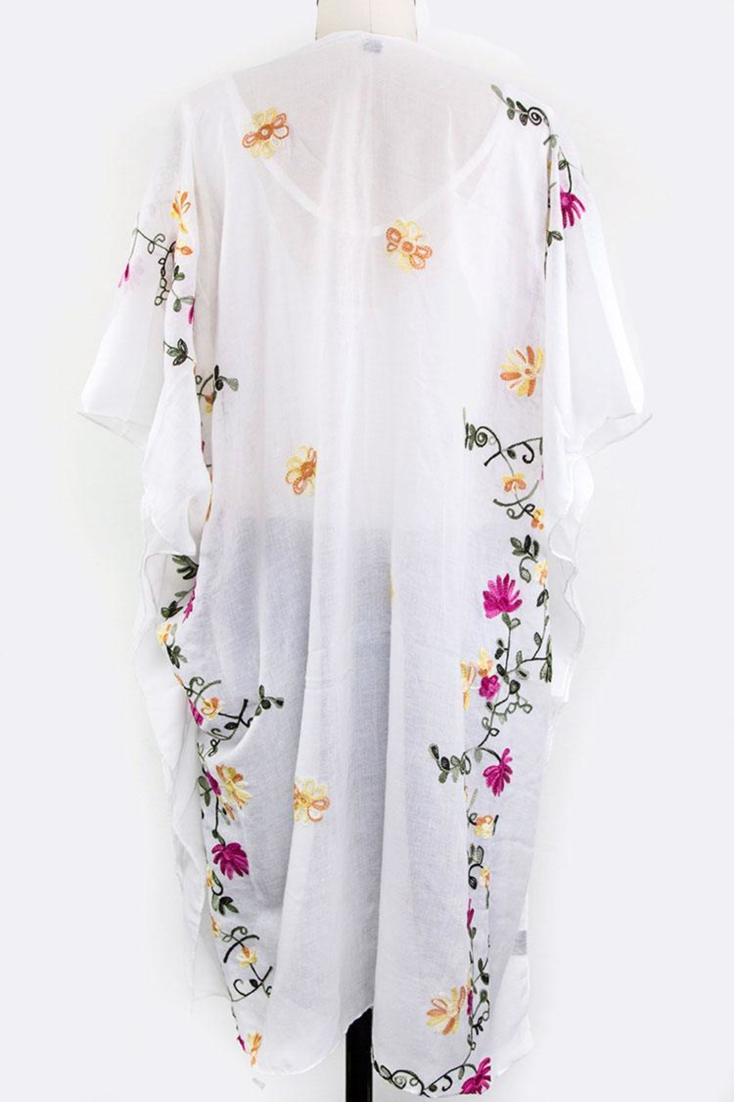 Nadya's Closet Floral Embroidered Cardigan - Front Full Image