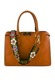 Nadya's Closet Floral Strap Tote Bag - Front cropped