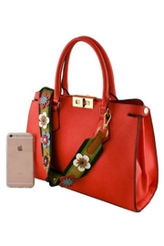 Nadya's Closet Floral Strap Tote Bag - Front full body
