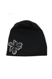 Nadya's Closet Flower Accent Beanie - Product Mini Image