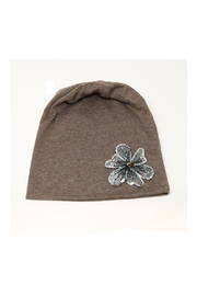 Nadya's Closet Flower Accent Beanie - Front cropped