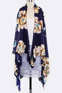 Shoptiques Product: Flower Print Sleeveless-Cardigan