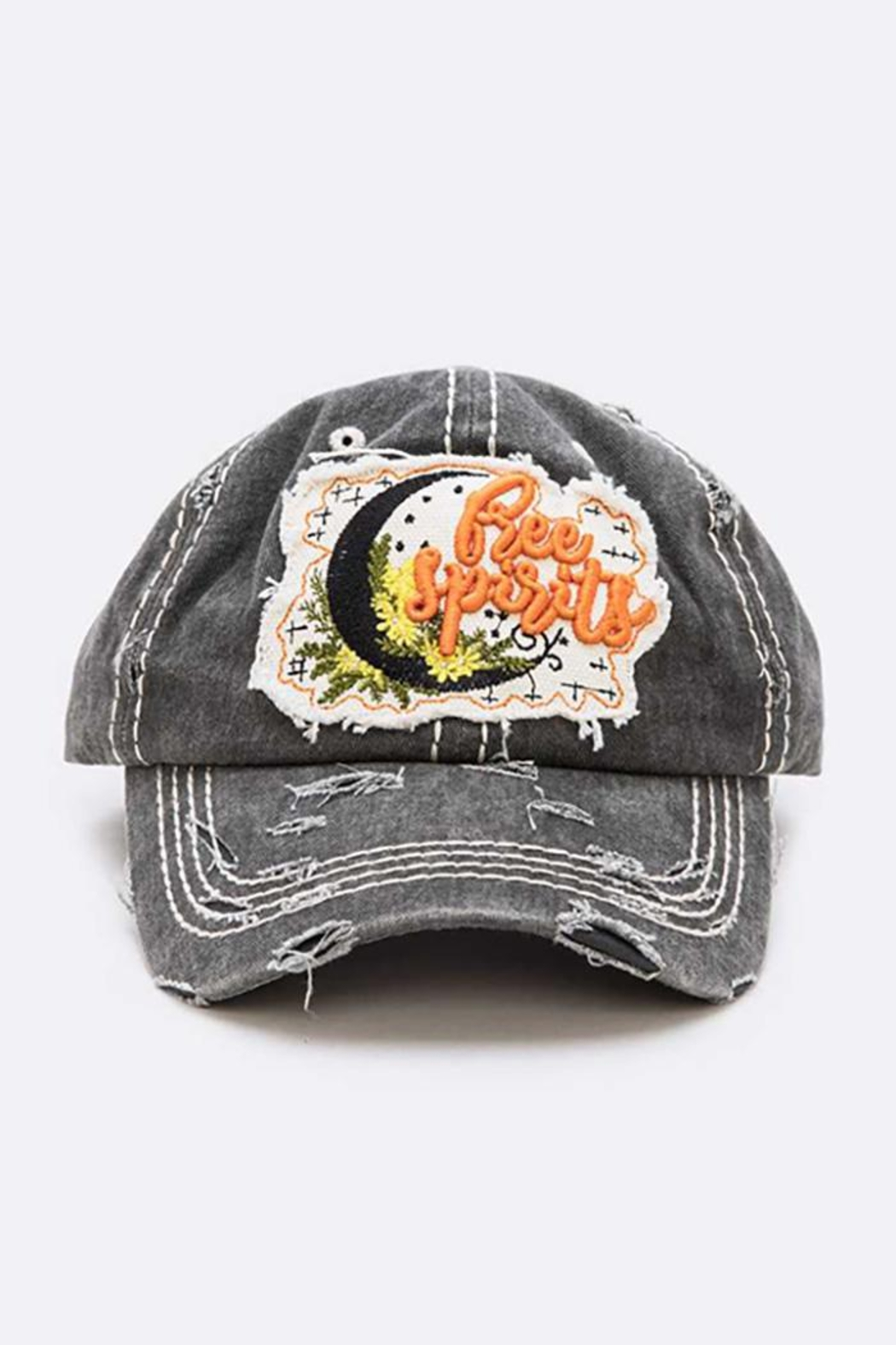 Nadya's Closet Free Spirit Embroidered Cotton Cap - Front Cropped Image