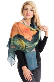 Nadya's Closet Frida Kahlo Sheer Scarf - Front cropped