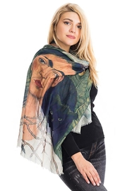 Nadya's Closet Frida Kahlo Sheer Scarf - Front full body