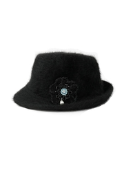 Nadya's Closet Furry Fedora Hat - Product Mini Image