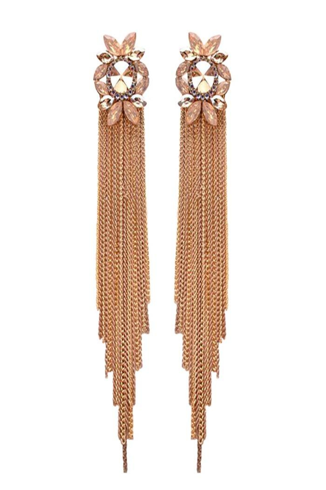 Nadya's Closet Gem Stone Post Earring - Front Cropped Image