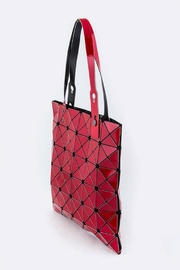 Nadya's Closet Geometric Structure Tote - Front full body