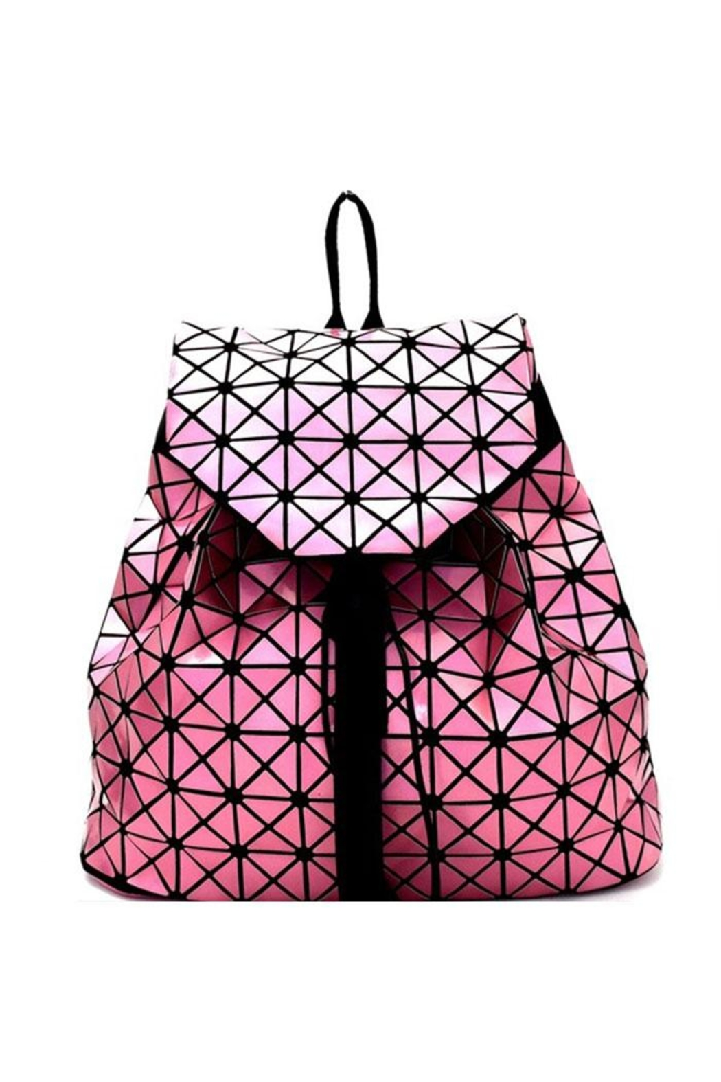 Nadya's Closet Geometry Patchwork Backpack - Front Cropped Image