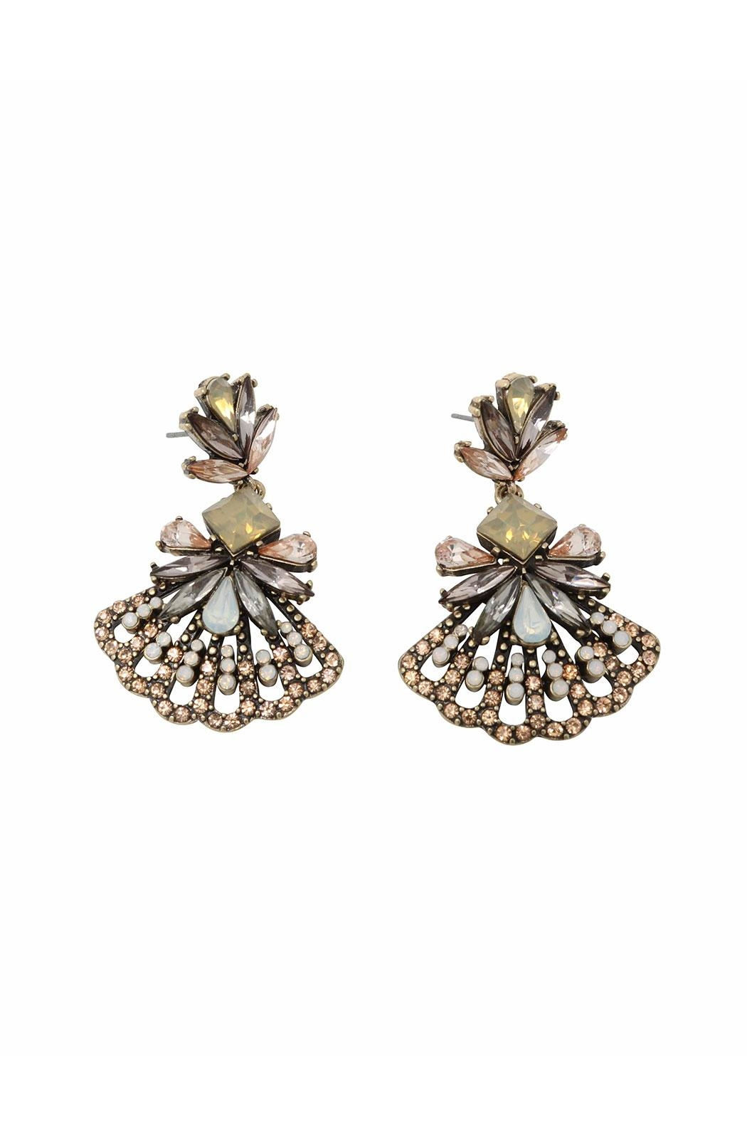 Nadya's Closet Gironde Fashion Earrings - Front Cropped Image
