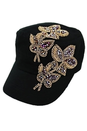 Nadya's Closet Gold Beads Rhinestone Cap - Product Mini Image