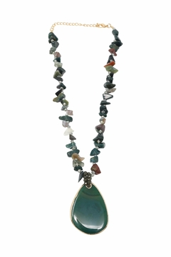Shoptiques Product: Green Agate Necklace