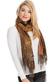 Nadya's Closet Gustav Klimt Inspired Woman Printed And Fringed Scarf - Side cropped