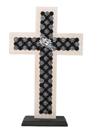 Nadya's Closet Hand Made Stained Wooden Cross - Product Mini Image