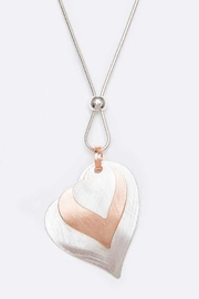 Nadya's Closet Heart Blush Metal Pendant Necklace - Front cropped
