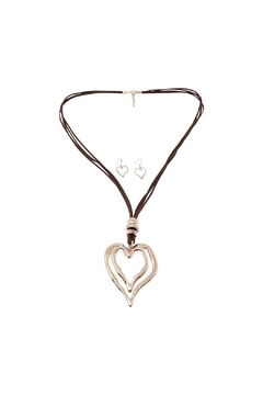 Shoptiques Product: Heart Necklace Set