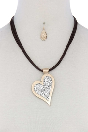 Nadya's Closet Heart Pendant Necklace - Front cropped