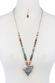 Nadya's Closet Heart Shape Necklace Set - Front cropped