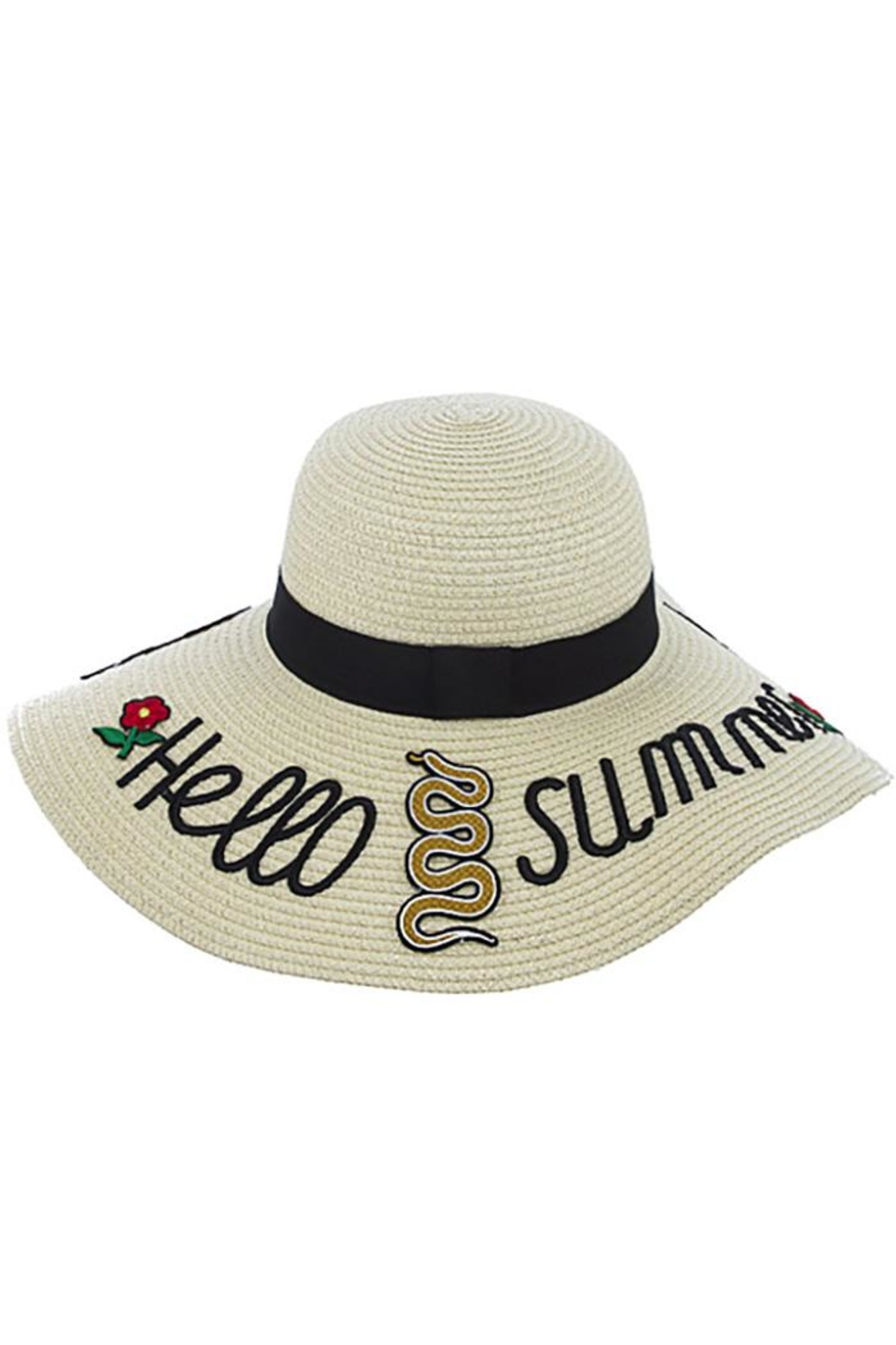 Nadya's Closet Hello Summer Floppy-Hat - Front Cropped Image