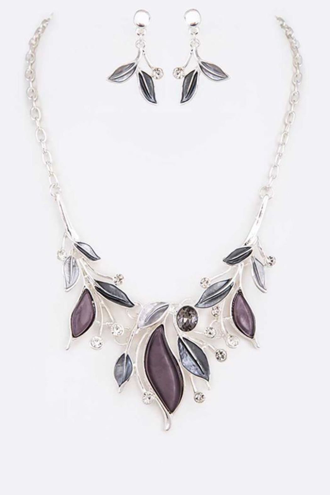 Nadya's Closet Jeweled Crystal Necklace Set - Front Cropped Image