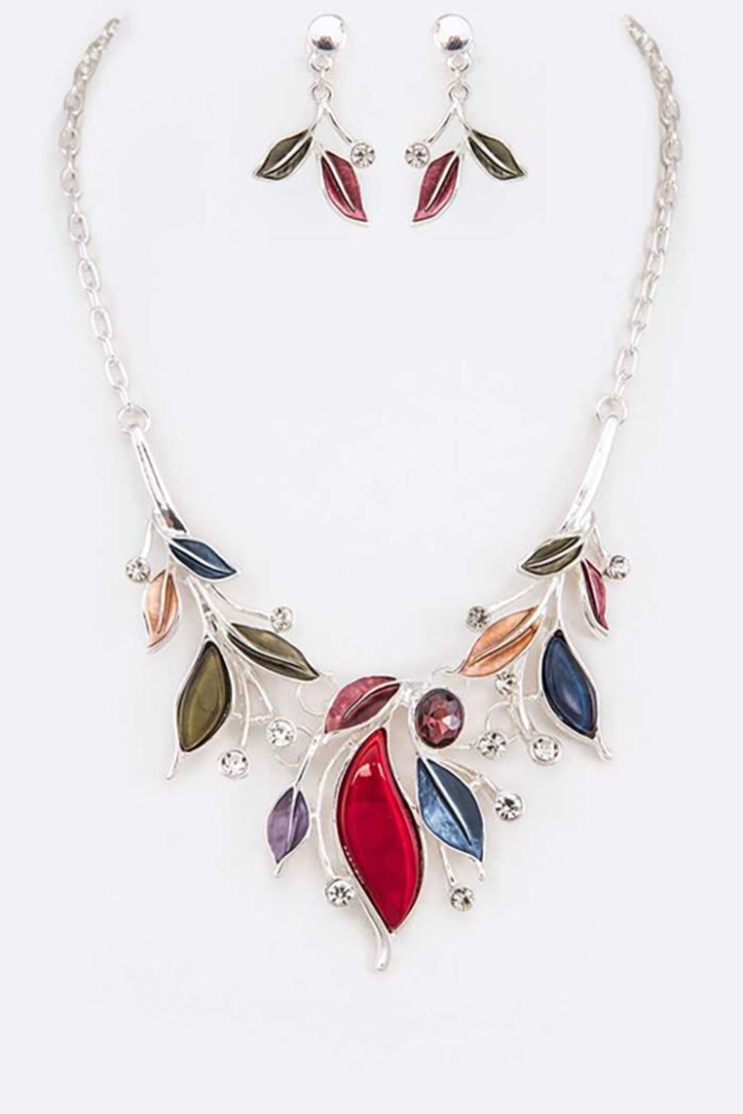 Nadya's Closet Jeweled Crystal Necklace Set - Main Image