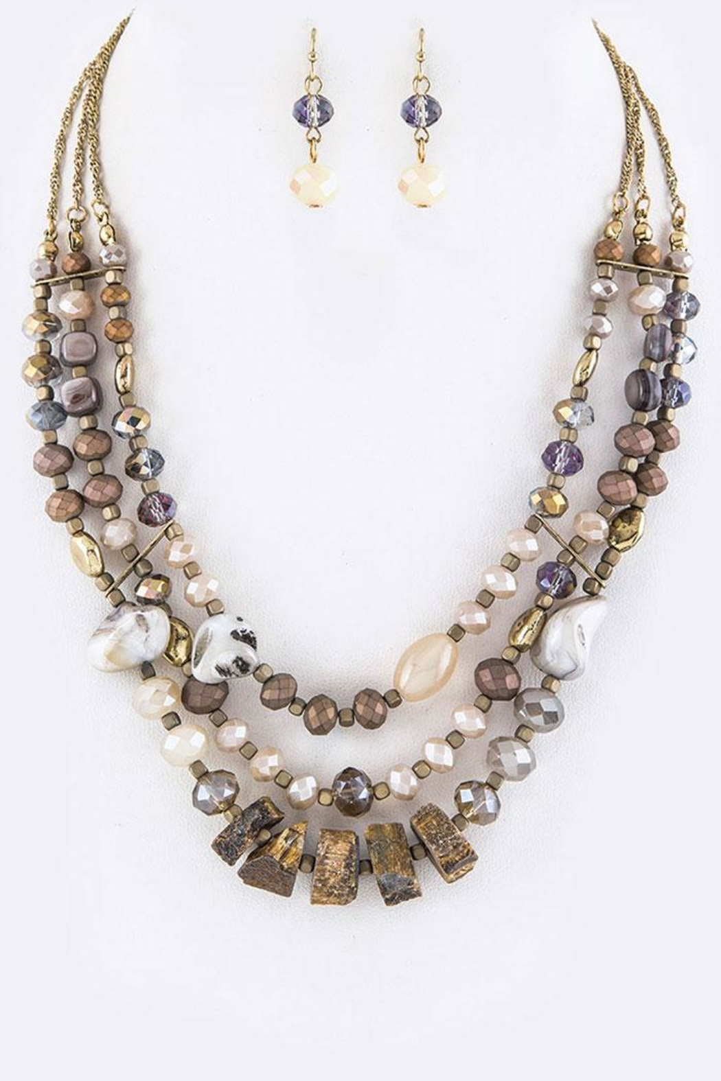 Nadya's Closet Layered Beads Necklace-Set - Front Cropped Image