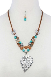 Nadya's Closet Leaf Beaded Necklace Set - Product Mini Image
